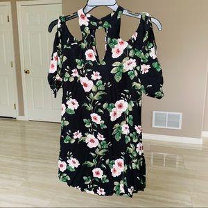 Lightweight off the shoulder floral dress